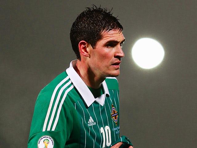 Northern Ireland's Kyle Lafferty in action against Azerbaijan on November 14, 2012
