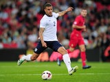 Kyle Walker in action for England against Moldova in a World Cup qualifier at Wembley on September 6, 2013