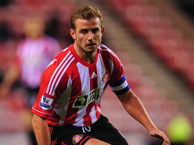 Sunderland captain Lee Cattermole in action during the FA Cup Third Round Replay between Sunderland and Bolton Wanderers at Stadium of Light on January 15, 2013