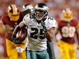 Eagles RB LeSean McCoy runs from the Redskins defence on September 9, 2013