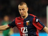 Genoa's Luca Antonelli in action against Napoli on April 7, 2013