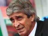 Manchester City manager Manuel Pellegrini during the match against Stoke on September 14, 2013