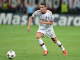 AC Milan's Mattia De Sciglio in action against PSV Eindhoven on August 28, 2013