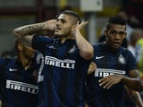 Inter's Mauro Emanuel Icardi celebrates a goal against Juventus on September 14, 2013