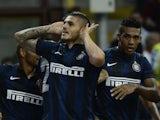Inter's Mauro Emanuel Icardi celebrates a goal against Juventus on September 14, 2013