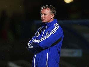Northern Ireland manager Michael O'Neill on the touchline during the World Cup qualifier against Portugal on September 6, 2013