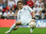 Michael Owen of England in action during the Euro 2008 Group E qualifying match between England and Estonia at Wembley Stadium on October 13, 2007