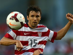 Michael Parkhurst in action for the USA in July 2013.