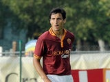 Roma's Nicolas Burdisso in action against Bursaspor Kulubu during a friendly match on July 21, 2013