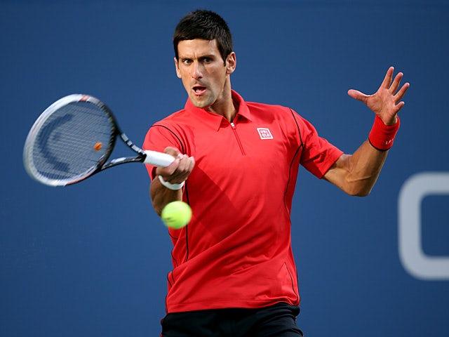 Novak Djokovic in action against Rafael Nadal during the US Open men's singles final on September 9, 2013