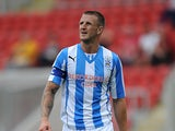 Huddersfield's Peter Clarke in action against Rotherham during a friendly match on July 20, 2013