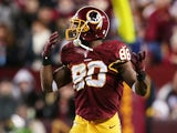 Redskins' Pierre Garcon in action against Seattle on January 7, 2013