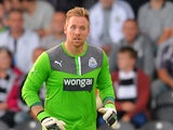 Rob Elliot of Newcastle during the Pre Season Friendly match between St Mirren and Newcastle United at St Mirren Park on July 30, 2013