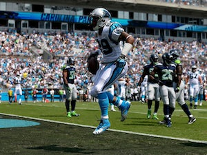 Steve Smith #89 of the Carolina Panthers during their game at Bank of America Stadium on September 8, 2013