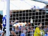 Everton's Steven Naismith scores the opening goal against Chelsea on September 14, 2013