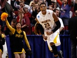Toure' Murry #23 of the Wichita State Shockers reacts late in the second half against the Virginia Commonwealth Rams in the second round of the 2012 NCAA men's basketball tournament at Rose Garden Arena on March 15, 2012