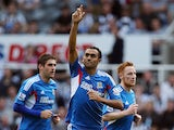 Hull's Ahmed Elmohamady celebrates scoring against Newcastle on September 21, 2013
