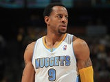 Denver Nuggets' Andre Iguodala in action against Golden State Warriors on April 30, 2013