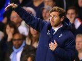 Tottenham manager Andre Villas-Boas gestures on the touchline during his team's Europa League group match against Tromso IL on September 19, 2013