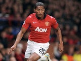 United winger Antonio Valencia in action against Bayer Leverkusen on September 17, 2013