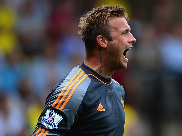 Southampton goalkeeper Artur Boruc in action against Norwich during their Premier League match on August 31, 2013