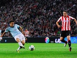 Celta's Charles Dias scores the opening goal against Athletic Club on September 16, 2013