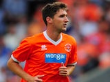 Blackpool's Chris Basham in action against Newcastle on July 28, 2013