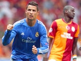 Real Madrid's Cristiano Ronaldo celebrates a goal against Galatasaray on September 17, 2013