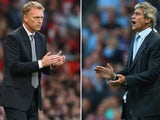 David Moyes and Manuel Pellegrini stand on the touchline.