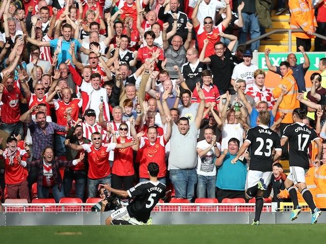 Result: Southampton end Liverpool's unbeaten run