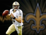 Drew Brees #9 of the New Orleans Saints throws a pass against the Atlanta Falcons at the Mercedes-Benz Superdome on September 8, 2013