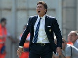 Inter Milan head coach Walter Mazzarri on the touchline during his team's Serie A match against Sassuolo on September 22, 2013