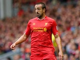 Jose Enrique of Liverpool in action during the Barclays Premier League match between Liverpool and Manchester United at Anfield on September 01, 2013