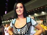 Katy Perry on the grid at the Singapore Formula One Grand Prix on September 23, 2012
