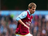 Marc Albrighton of Aston Villa during the Barclays Premier League match between Aston Villa and West Bromwich Albion at Villa Park on September 30, 2012