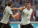 Bayern Munich's Mario Mandzukic celebrates a goal against Schalke on September 21, 2013