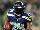 Marshawn Lynch #24 of the Seattle Seahawks runs the ball against the San Francisco 49ers on September 15, 2013