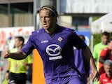 Fiorentina's Massimo Ambrosini in action against Team Trentino on July 20, 2013