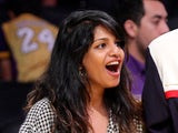 M.I.A. (L) attends Game Five of the Western Conference Finals during the 2009 NBA Playoffs between the Los Angeles Lakers and the Denver Nuggets at Staples Center on May 27, 2009