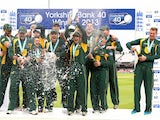 Nottinghamshire celebrate their YB40 final victory on September 21, 2013