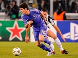 Chelsea's Oscar in action against Juventus during their Champions League match on November 20, 2012