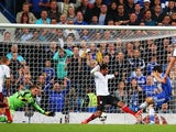 Chelsea's Oscar scores a tap in against Fulham on September 21, 2013