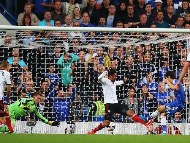 Chelsea's Oscar scores a tap in against Fulham on September 21, 2013
