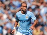Pablo Zabaleta of Manchester City in action during the Barclays Premier League match between Manchester City and Hull City at the Etihad Stadium on August 31, 2013