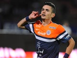 Montpellier's Remy Cabella celebrates a goal against Evian on September 21, 2013