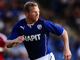 Chesterfield striker Ritchie Humphreys in action on July 13, 2013
