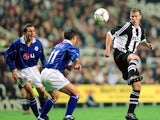 Rob Lee in action for Newcastle United against Leicester City in September 2001.