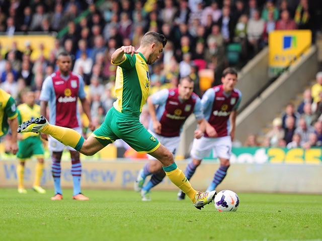 Result: Villa hang on for Norwich win