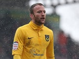 Oxford's Sean Rigg in action against Northampton during their League Two match on March 23, 2013