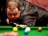 Stephen Lee at the table during the Masters against Mark Selby on January 18, 2012